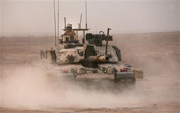 Переброска танков из Великобритании в Германию