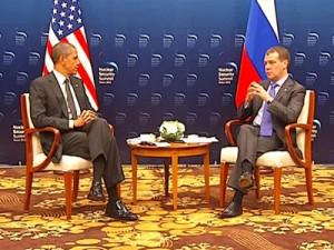 Обама и Медведев на саммите по ядерной безопасности в Сеуле