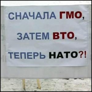 Пикет против НАТО в Ульяновске