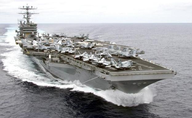 Авианосец Carl Vinson в Персидском заливе
