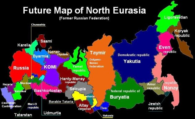 Карта стран после распада России