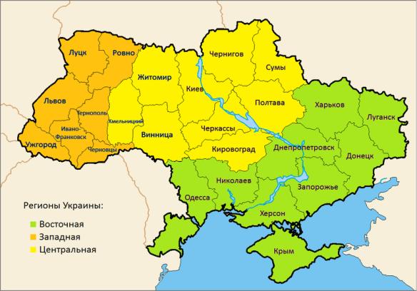 Карта раздела Украины