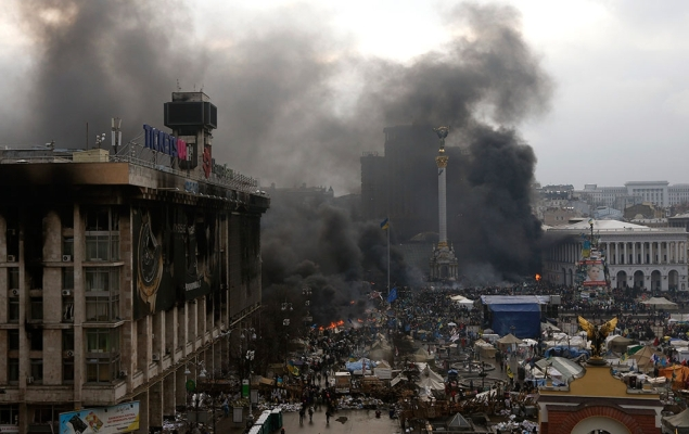 Центр Киева, беспорядки