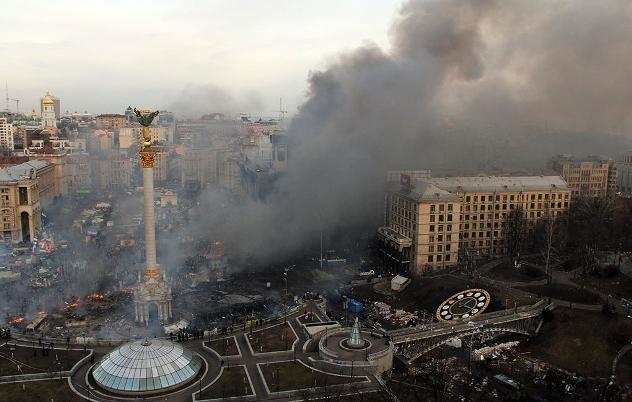 Гражданская война в центре Киева