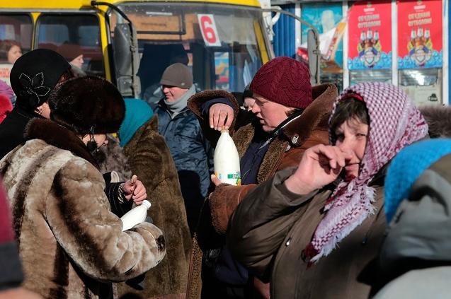 Киевляне скупают продукты