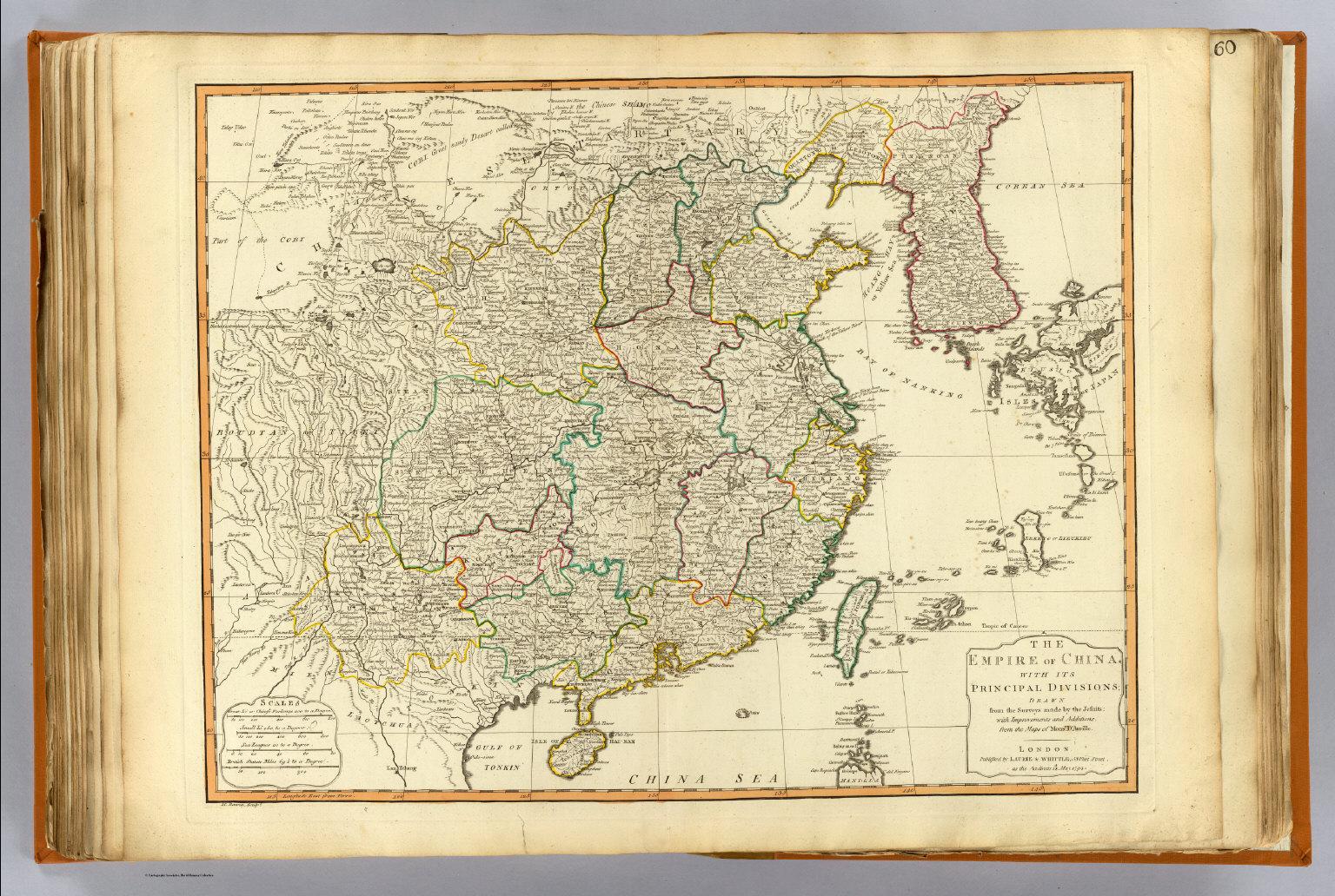 Карта Китая 1735 года