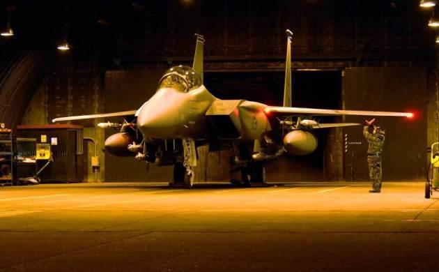 Истребитель F-15Е на базе Лейкенхит