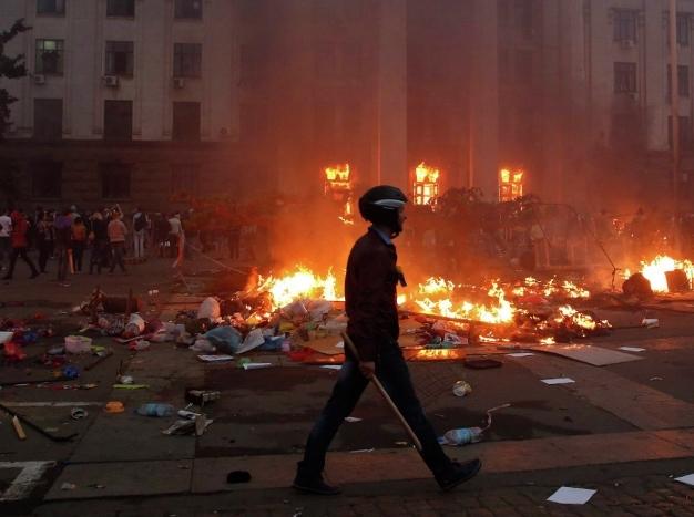 Кровавый пожар в Одессе