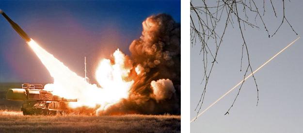 Запуск ЗРК «Бук»