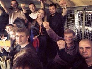 Демонстрация в поддержку Новороссии… закончилась так