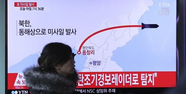 Северная Корея выпустила ракету в сторону Японии